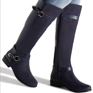 COPY - HOLLIE WRAPAROUND BUCKLE BOOT Color: NAVY …